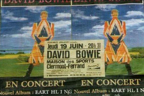 Le 19 juin 1997, le concert de David Bowie à la Maison des Sports de Clermont-Ferrand est entré dans la légende.