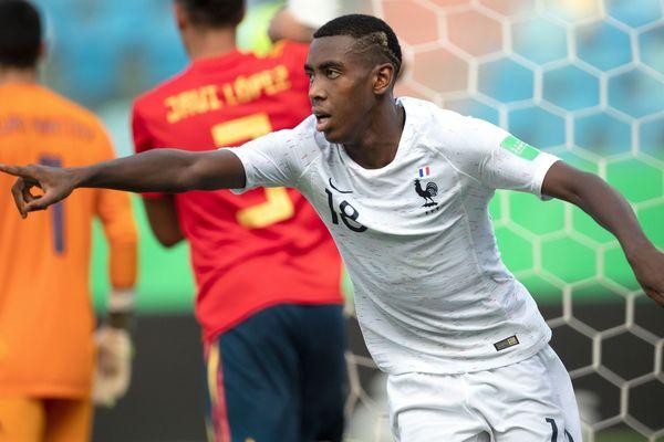 Isac Lihadji, en novembre 2019 avec l'équipe de France U17 au Brésil.