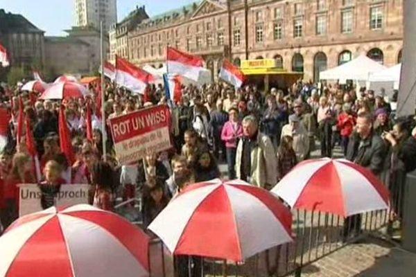 Une manifestation en faveur du bilinguisme en Alsace