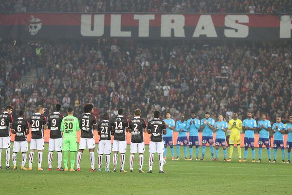 OGC Nice - OM : hommage aux victimes de Marseille avant une victoire de l'OM 4 buts à 2