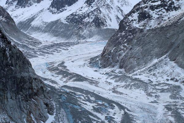 Le glacier du Mont-Blanc le 13 février 2020.