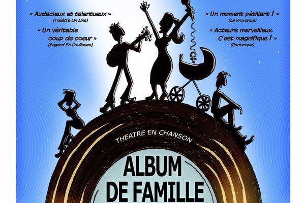 Album de Famille de la Compagnie du Sans-Souci à l'affiche du Studio Hébertot à Paris (17e)