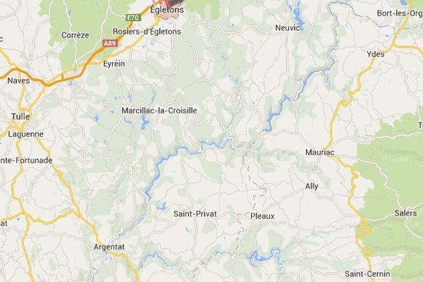 Routes glissantes en Corrèze