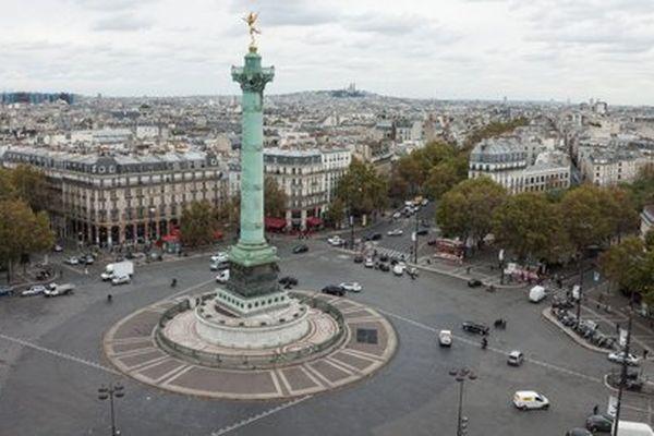 La place de la Bastille fait partie des sept lieux de la capitale où la place de la voiture va être réduite.