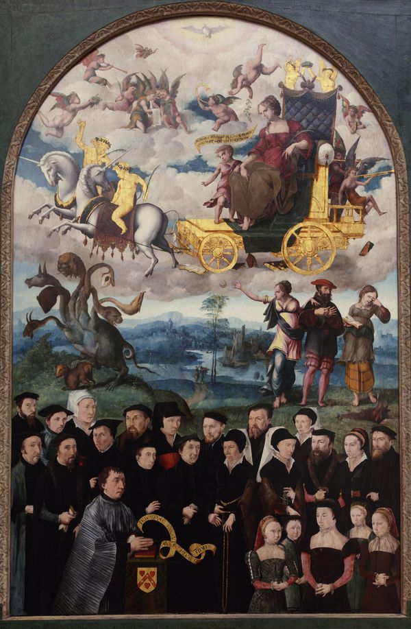 Anonyme, Puy 1548, Triumph exquis au chevalier fidèle, huile sur panneau, 188 x 121 cm