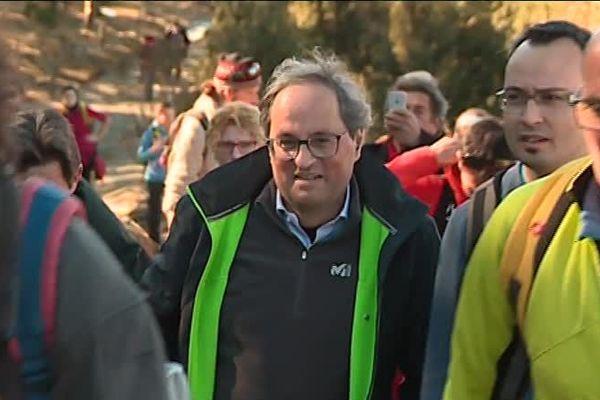 Quim Torra le président Catalan lors de la célebration des 80 ans de la Retirade - 16 février 2019
