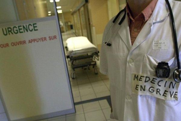 ARCHIVES - Grève des médecins aux urgences des hôpitaux