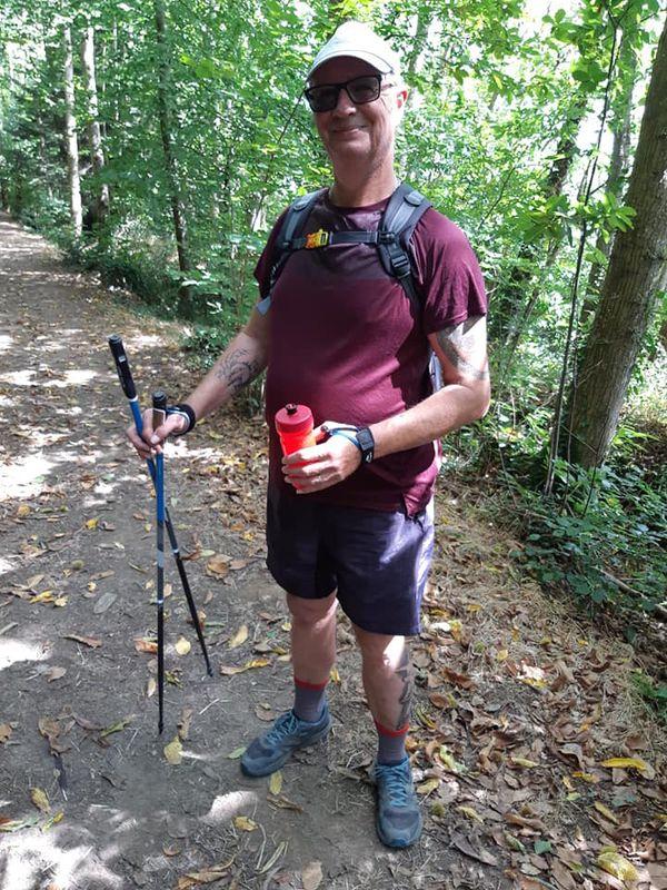 Éric Pinas a fait 4.000 kilomètres cumulés de marche nordique.