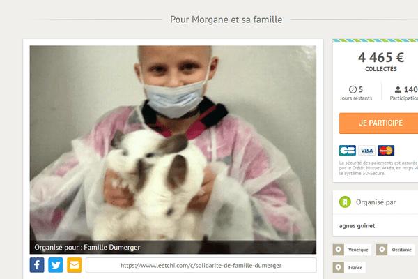 Morgane, onze ans, est hospitalisée à Paris depuis le 13 décembre dernier.