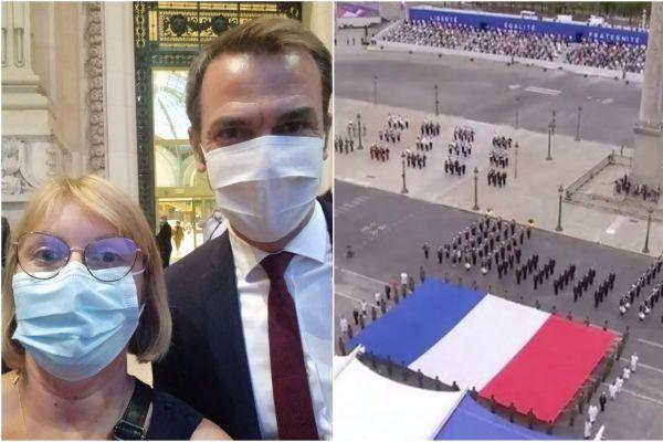 Delphine Ponnelle, infirmière en Nord-Isère, a participé à la cérémonie du 14-Juillet à Paris ce mardi.