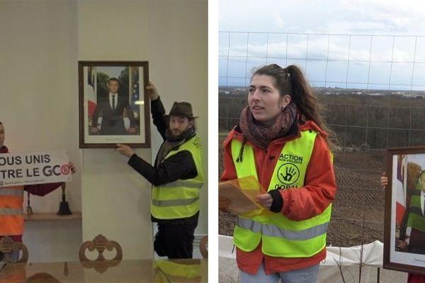 Le portrait a été promené devant la portion de la forêt de Kolbsheim rasée pour permettre les travaux du Grand contournement ouest de Strasbourg (GCO).
