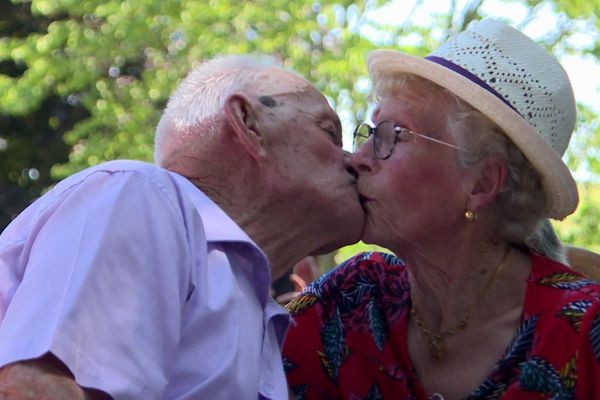 Georgette et Marcel Dechaume se sont mariés il y a 70 ans