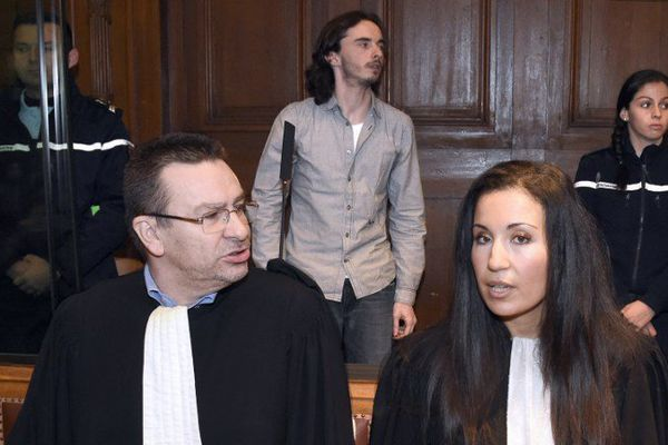 Seureau et ses deux avocats le 15 novembre 2014