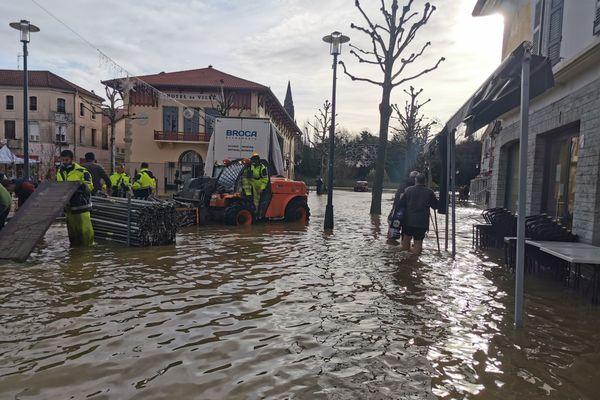 Inondations à Tartas, ce jeudi 31 décembre.