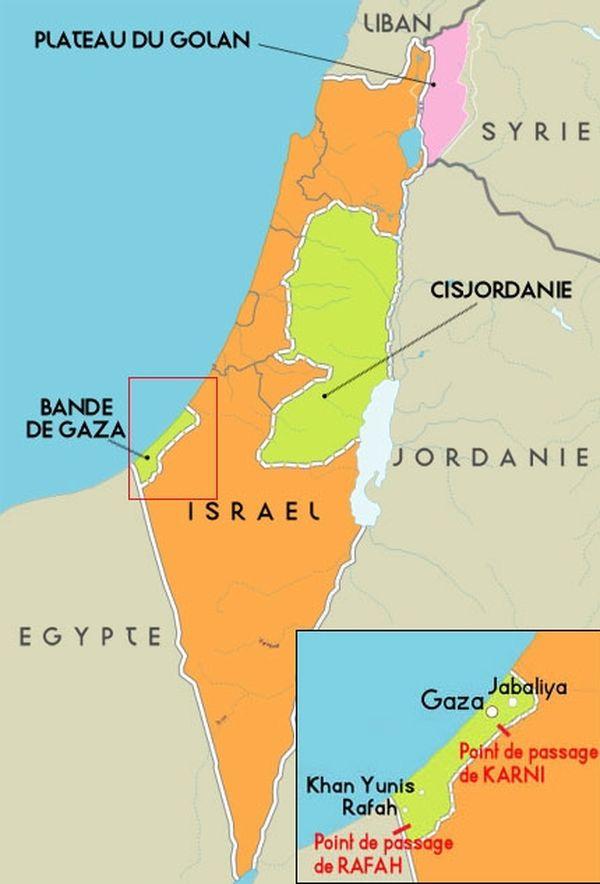 Carte des territoires palestiniens