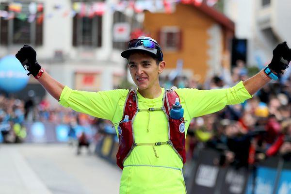 Xavier Thévenard vainqueur 2018 de l'UTMB à Chamonix.