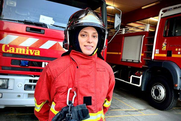 Adeline Boutet, pompier volontaire au service départemental d'incendie et de secours de Haute-Vienne.
