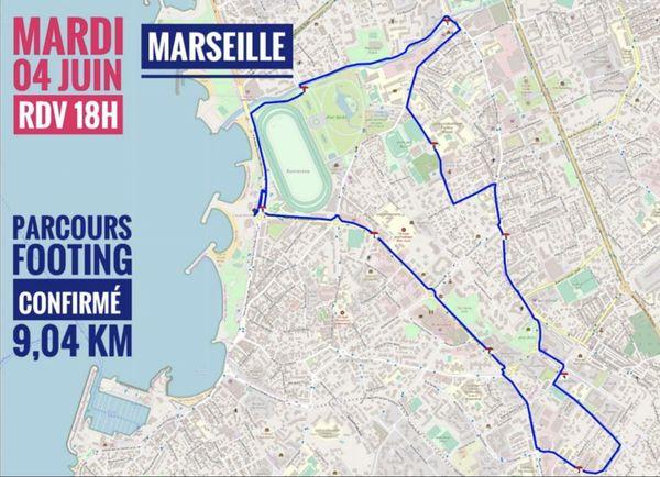 Le parcours du plogging à Marseille.
