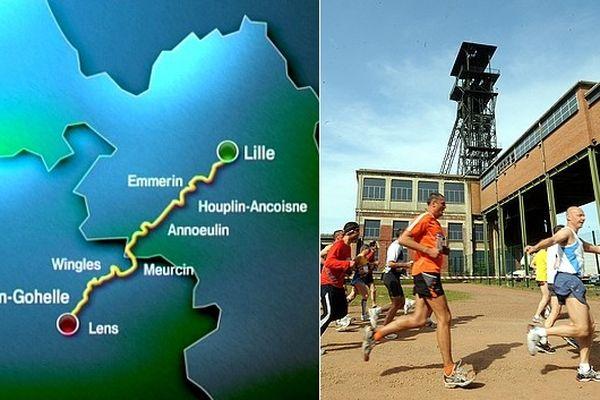 42 kilomètres entre Lille et Loos-en-Gohelle.