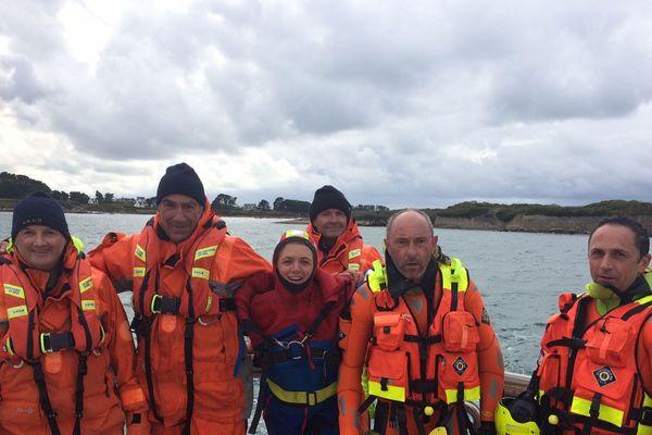 Marine Barnérias a passé une journée au cote des bénévoles de la station SNSM de l'Aber-Wrac'h
