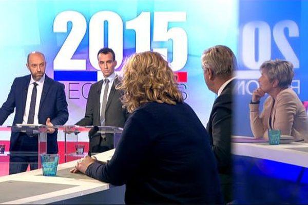 Le débat d'entre-deux tours des élections régionales en Bourgogne Franche-Comté mercredi 9 décembre 2015 sur France 3 Bourgogne et France 3 Franche-Comté.