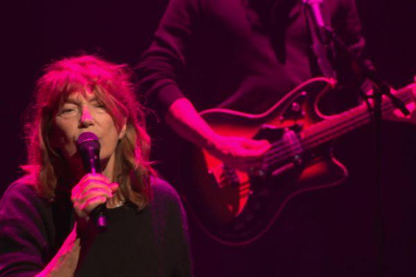 Jane Birkin en répétition à Vannes avant ses trois dates de concert fin mai pour la réouverture du la Scène de Golfe.