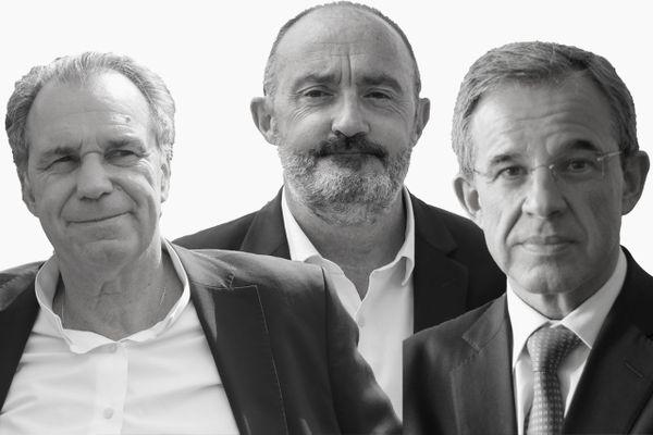 Les résultats du premier tour des élections régionales 2021 en Provence-Alpes-Côte d'Azur : Renaud MUSELIER (LR), Jean-Laurent FELIZIA (Union de la gauche), Thierry MARIANI (RN)