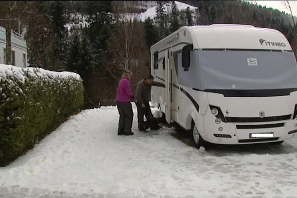 Le camping-neige.