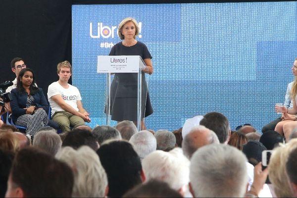 Valerie Pecresse lors d'un meeting de son mouvement Libres! à Brive le 31 août 2019.