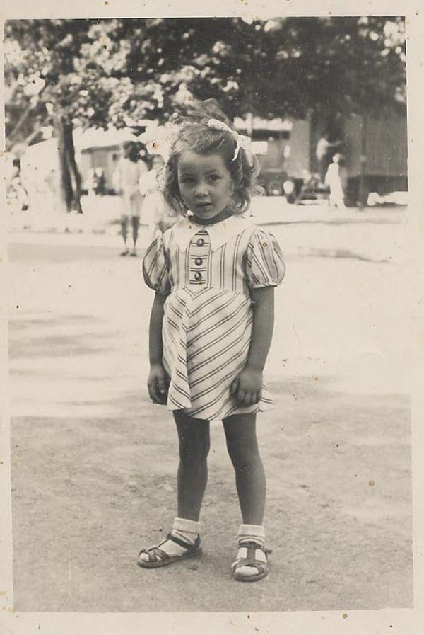 Christiane Lauthelier âgée de 5 ans.