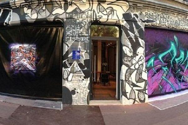 La façade graffée par KATRE rue Ozenne