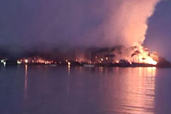 Un incendie a ravagé l'île aux pins dans la nuit du mardi 7 au mercredi 8 septembre 2021.
