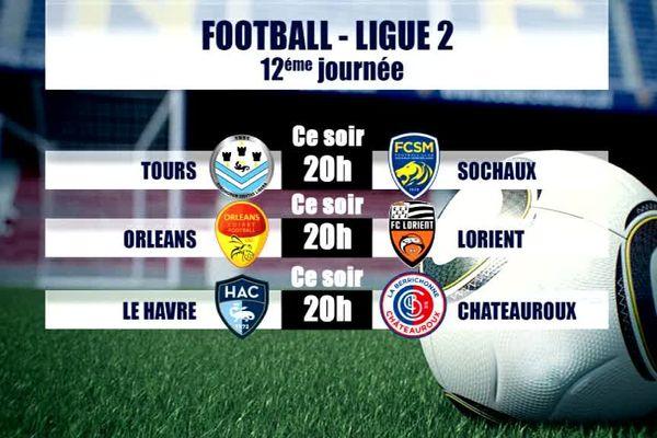 Du football au menu dès ce vendredi 20 octobre, avec la 12ème journée du championnat de Ligue 2