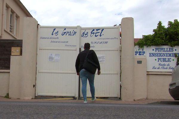 Palavas (Hérault) - le centre temporaire de confinement pour mineurs isolés - avril 2020.