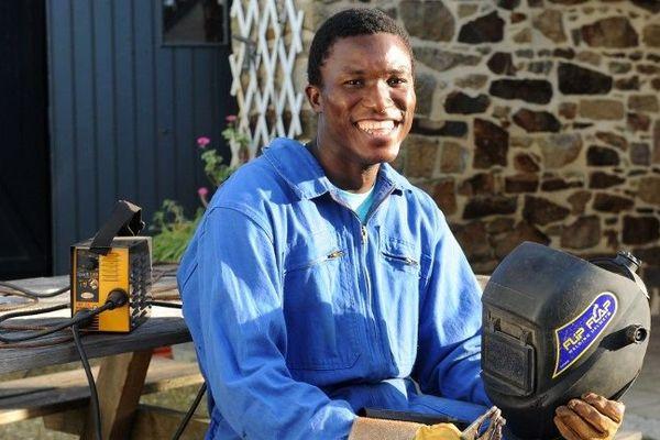 Williams Kemadjou Tchatchoua, médaille d'or en métallerie aux Olympiades des métiers en Bretagne