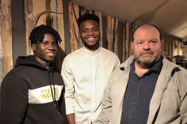 Yaya Camara, Laye Fodé Traoré et Stéphane Ravacley le 19 janvier 2021