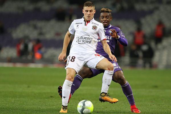 Rémi Walter, sous les couleurs de l'OGC Nice contre le TFC, le 29 novembre 2017.