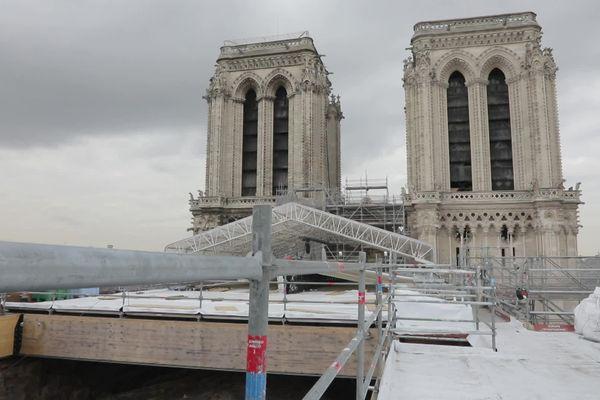 Les arbres haut-pyrénéens seront découpés sous forme de poutres avant d'être transportés vers le chantier de la cathédrale Notre-Dame de Paris