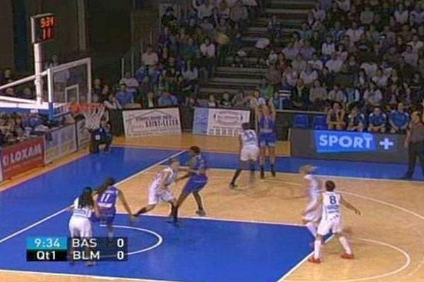Les filles de Basket Landes battues 55 à 71 par Montpellier - 30 avril 2014.