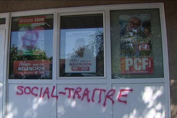 Besançon : la permanence du PC vandalisée dans la nuit du 28 au 29 avril 2017