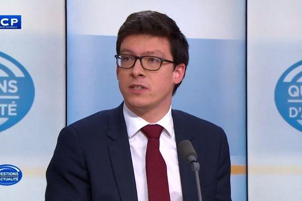 Le député LR du Pas-de-Calais (7e circonscription) mardi 29 janvier 2019 sur le plateau de LCP.