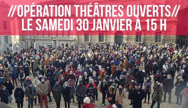 L'opération Théâtres Ouverts a été lancée le 7 décembre
