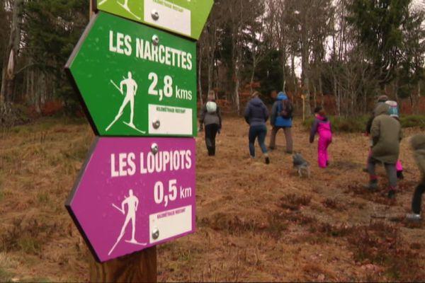 Lozère - Que les vacanciers qui séjournent aux Bouviers se rassurent! Malgré l'absence de neige, les activités ne manquent pas (ici le 10 février)!