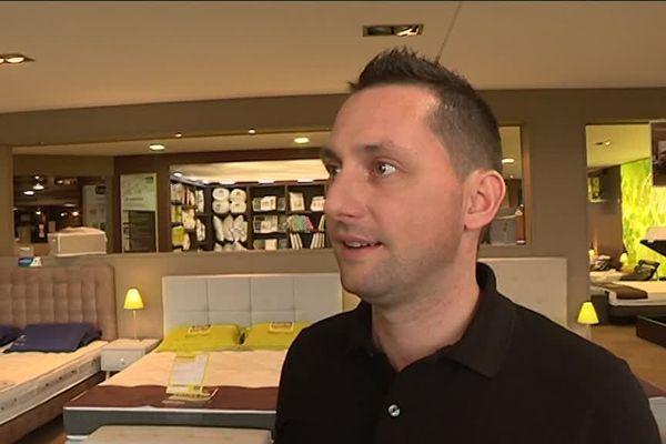 Damien Craiment : commerçant à l'Espace de la Motte à Vesoul s'inquiète de cette future nouvelle zone