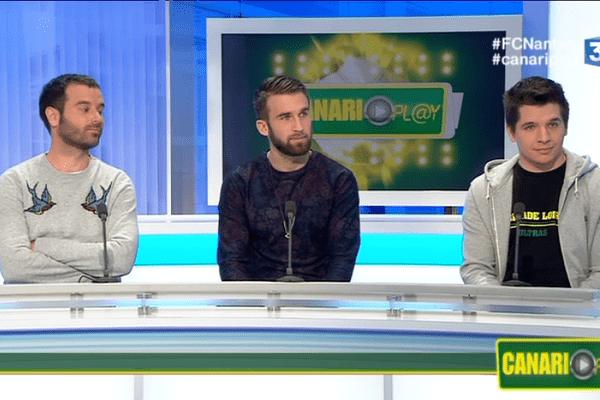 Anthony Clément de L'Equipe, Lucas Deaux, et Romain Gaudin de la Tribune Loire