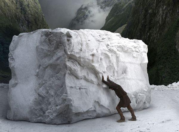 Michel-Ange dans les carrières de marbre de Carrare