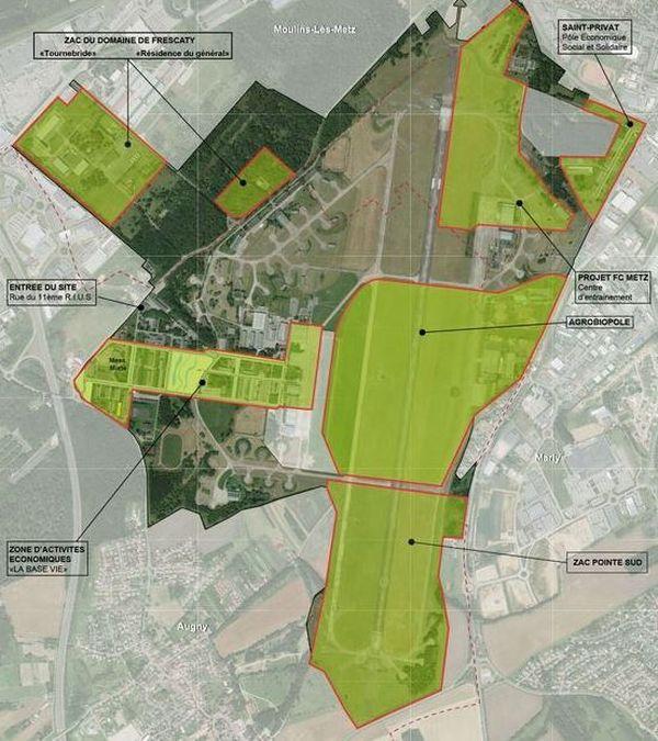 Amazon s'installera en bout de piste, dans la pointe Sud de l'ancienne base aérienne.