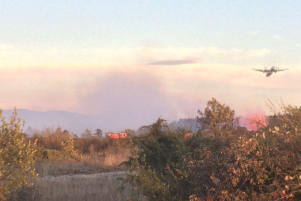 Les avions bombardiers d'eau sont intervenus à Valdurenque (81)