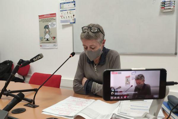 Marie-Hélène Lecenne tenait un point de situation sur la pandémie, ce mercredi 27 janvier.