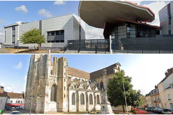 Des élèves du lycée Edouard-Branly de Dreux (en haut) vont découvrir deux oeuvres de l'église Sainte-Pierre de Dreux (en bas).